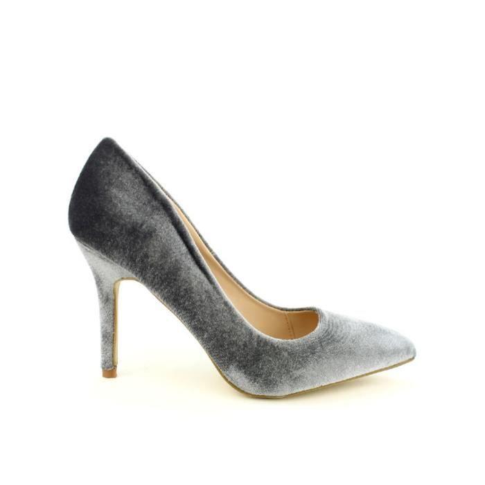 escarpin, Escarpins Gris Chaussures Femme, Cendriyon