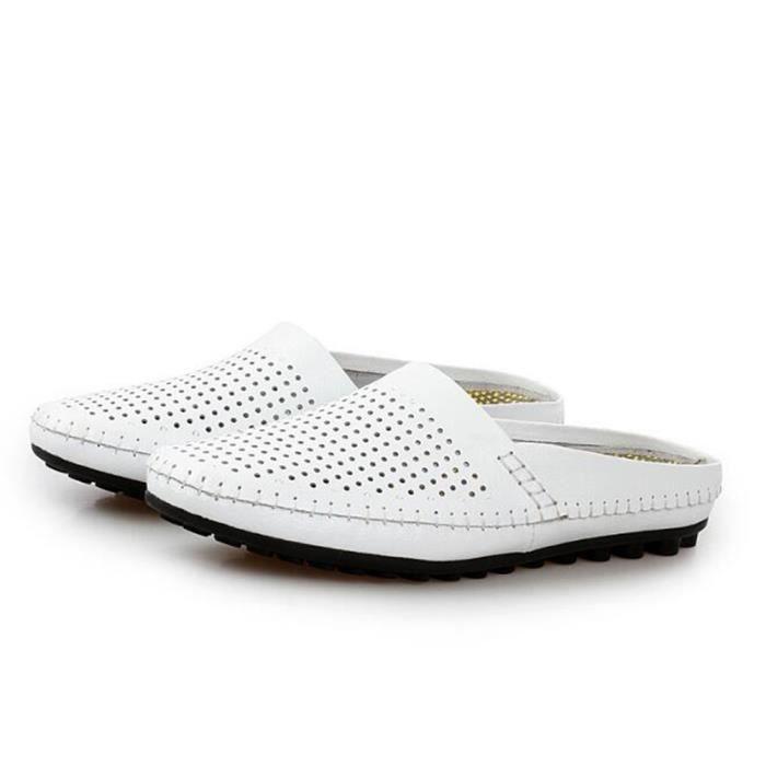 chaussures homme En Cuir Haut qualité Luxe 2017 ete Pour plage Moccasins Poids Léger Antidérapant Grande Taille 38-44