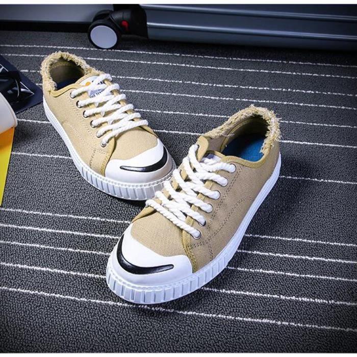 Chaussures Hommes Cuir Printemps Ete Mode Respirant détente Chaussure LLT-XZ082Bleu42 YX5Dt