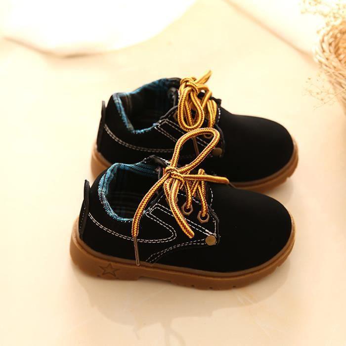 BOTTE Enfants Chaussures Filles Garçons High Sneakers Bébé Chaussures Sport Automne Hiver Chaussures@NoirHM bDH35