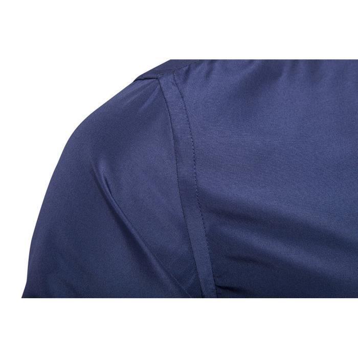 Chemise à manches longues occasionnels pour hommes@Bleu