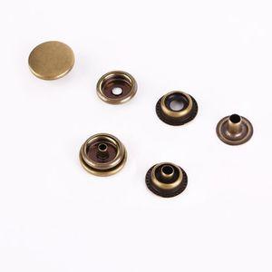 7ddac1b7a5ea ... FERMETURE - BOUTON 100pcs 15mm bouton pression métal bronzé pour cuir  ...