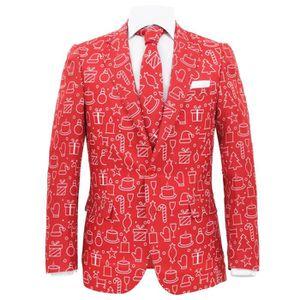 9d92e4db4e5 ... COSTUME - TAILLEUR Costume à 2 pcs Noël et cravate Homme Taille 46 Ca  ...