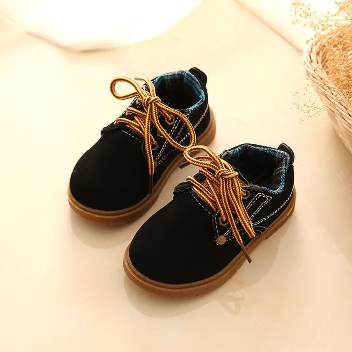 BOTTE Mode Enfants Chaussures Filles Garçons Enfants Chaussures Enfants Sneakers Eisure Chaussures@NoirHM
