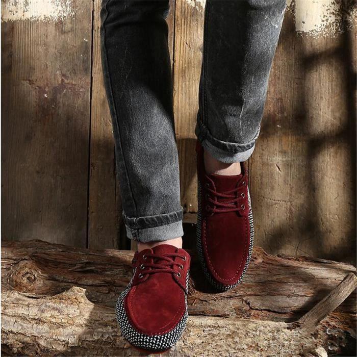 chaussures Grande loisirs Les et de hommes été décontractéesMoccasins Respirant Confortable Sneaker Printemps Homme pour Taille SO0fqf
