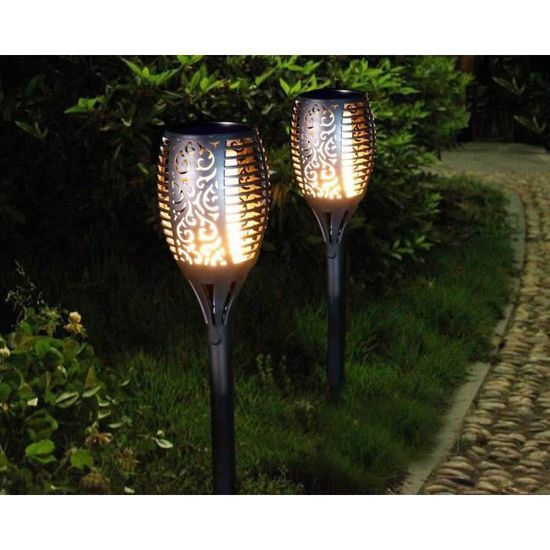 Solaire Jardin Emballagex2 À W29ihed Aglaia Led Torche Lampe SMLGpjqUzV