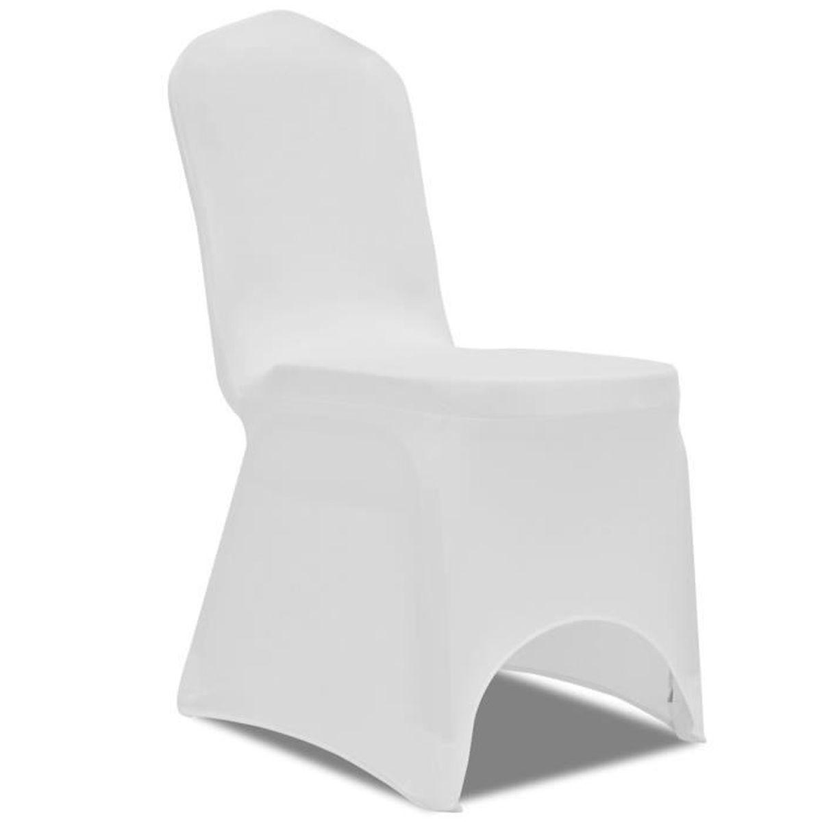 Housses Décorative De Achat Spandex Blanc Front Chaise Arqué 80knOwP