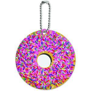 BRACELET DE MONTRE Rose Donut Sprinkles ronde ID bagages Carte de Tag
