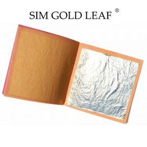 DÉCORATION PÂTISSERIE 50 feuilles d'argent 40 mm X 40 mm comestible alim