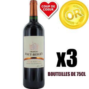 VIN ROUGE X3 Château Haut-Bergey 2016 75 cl AOC Pessac-Léogn