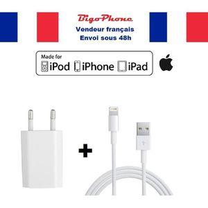 CHARGEUR TÉLÉPHONE Chargeur prise secteur + câble Lightning iPhone 6s