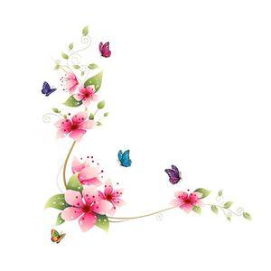 stickers muraux sticker mural fleur rose - achat / vente stickers