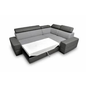 CANAPÉ - SOFA - DIVAN Canapé d'angle CAPRE avec lit et coffre