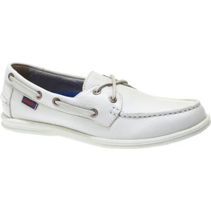 CHAUSSURES BATEAU Litesides two eyes white tumbled leather - Chaussu