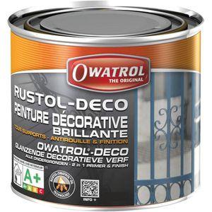 PEINTURE - VERNIS Anti-rouille Rustol - noir profond - 0.75 L
