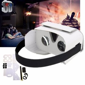 LUNETTES 3D DIY 3D VR Video Film Lunettes Carton Réalité Virtu