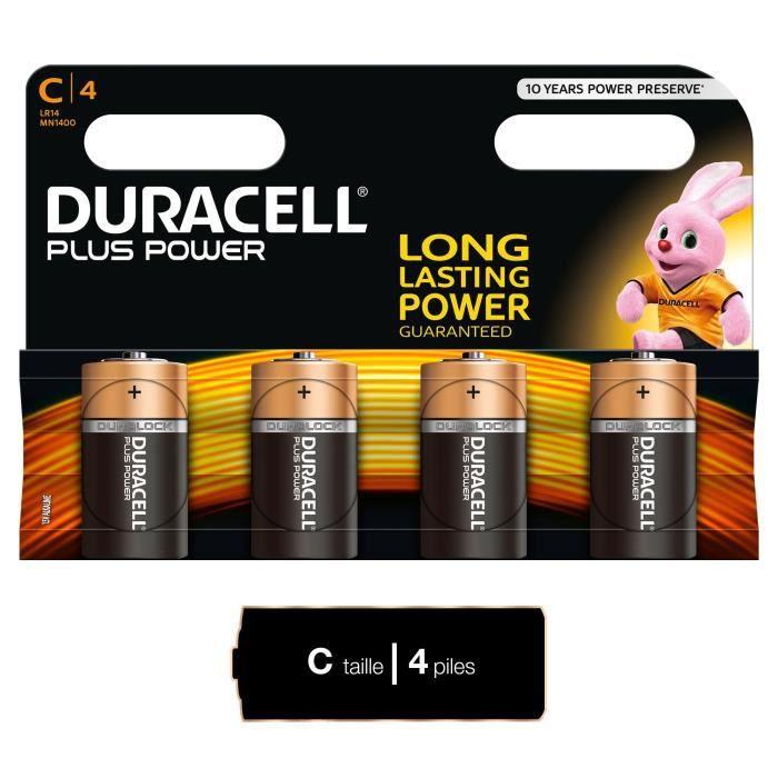 DURACELL Piles Plus Power C X4