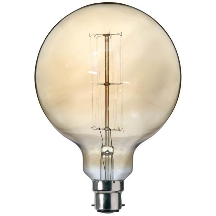 SYLVANIA Ampoule décorative Vintage globe 125 B22 60 W à incandescence