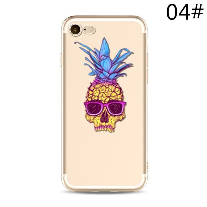 WISH,HXY3A_iPhone7plus,4 Ananas mode peinture Téléphone simple cas Mignon  Téléphone personnalité Coque de protection Accessoires de