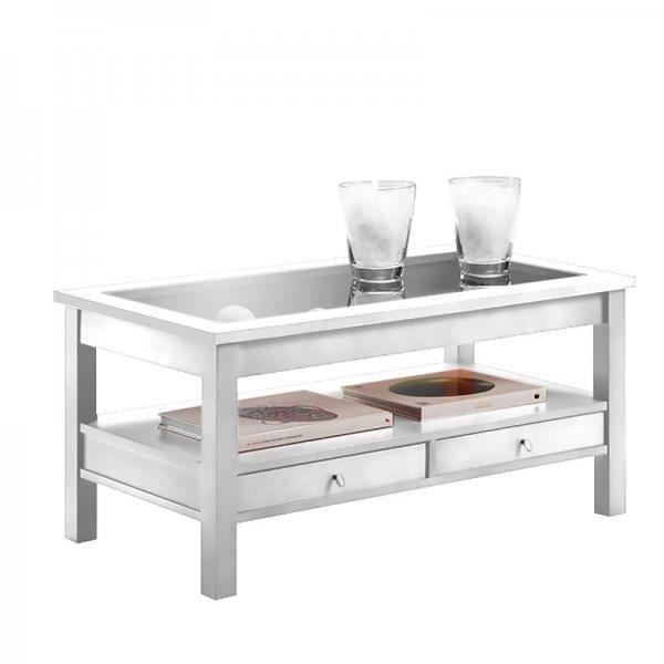Table Basse Elevable Case Largeur 96cm Profondeur 50cm Hauteur