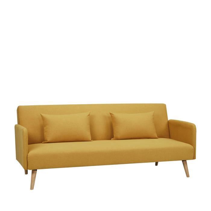 Canapé sofa divan canapé convertible scandinave 3 places nielson c