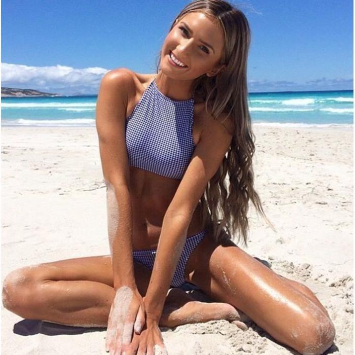 Bain maillot Couleur Bikini Bleue Nouvelle De Arrivée Aux Femme 2016 PTE1Ow1qx