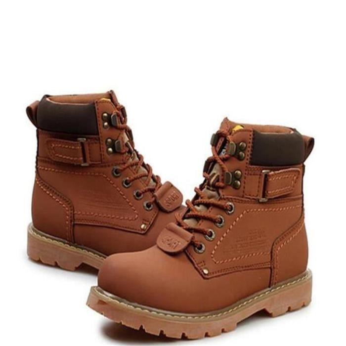 Haute qualité chaussure de travail homme antidérapantes chaussures en cuir Bottines en Cuir - Marron AMcqaPgCy7