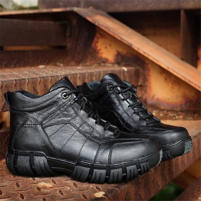 Bottines Homme Meilleure Qualité Couleur Unie Chaussures 2018 AntidéRapant Chaussures Confortable Durable 38-47 ZjHcfZW