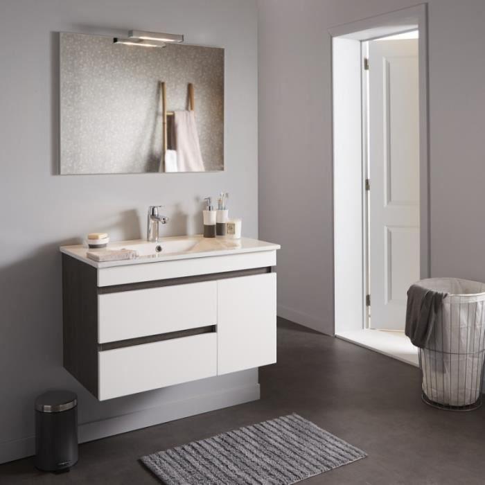 Meuble salle bain wenge - Achat / Vente pas cher