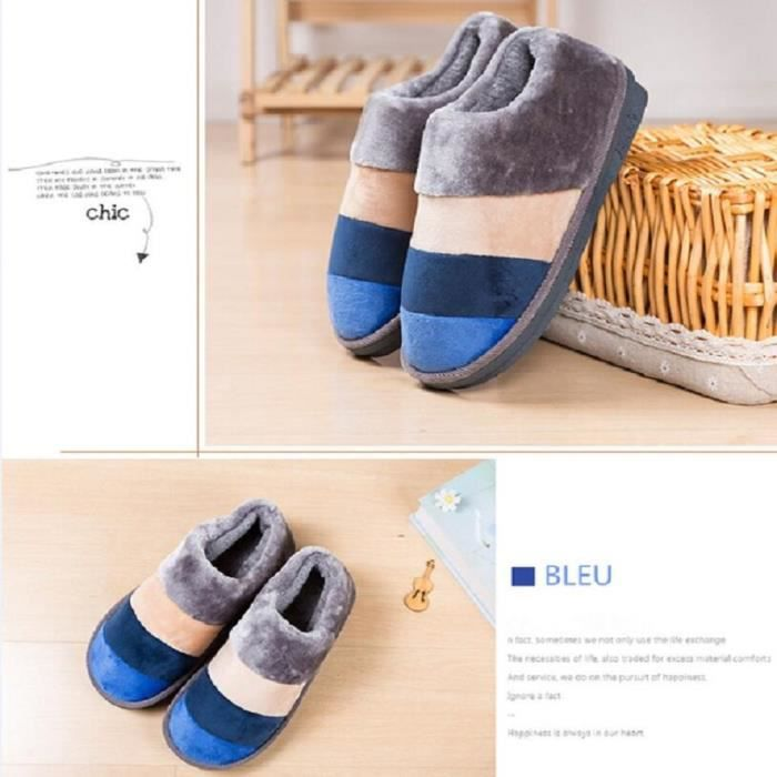 Intérieur Luxe Chaussons Nouvelle Marque Chaussures Chaud n1w1rZv