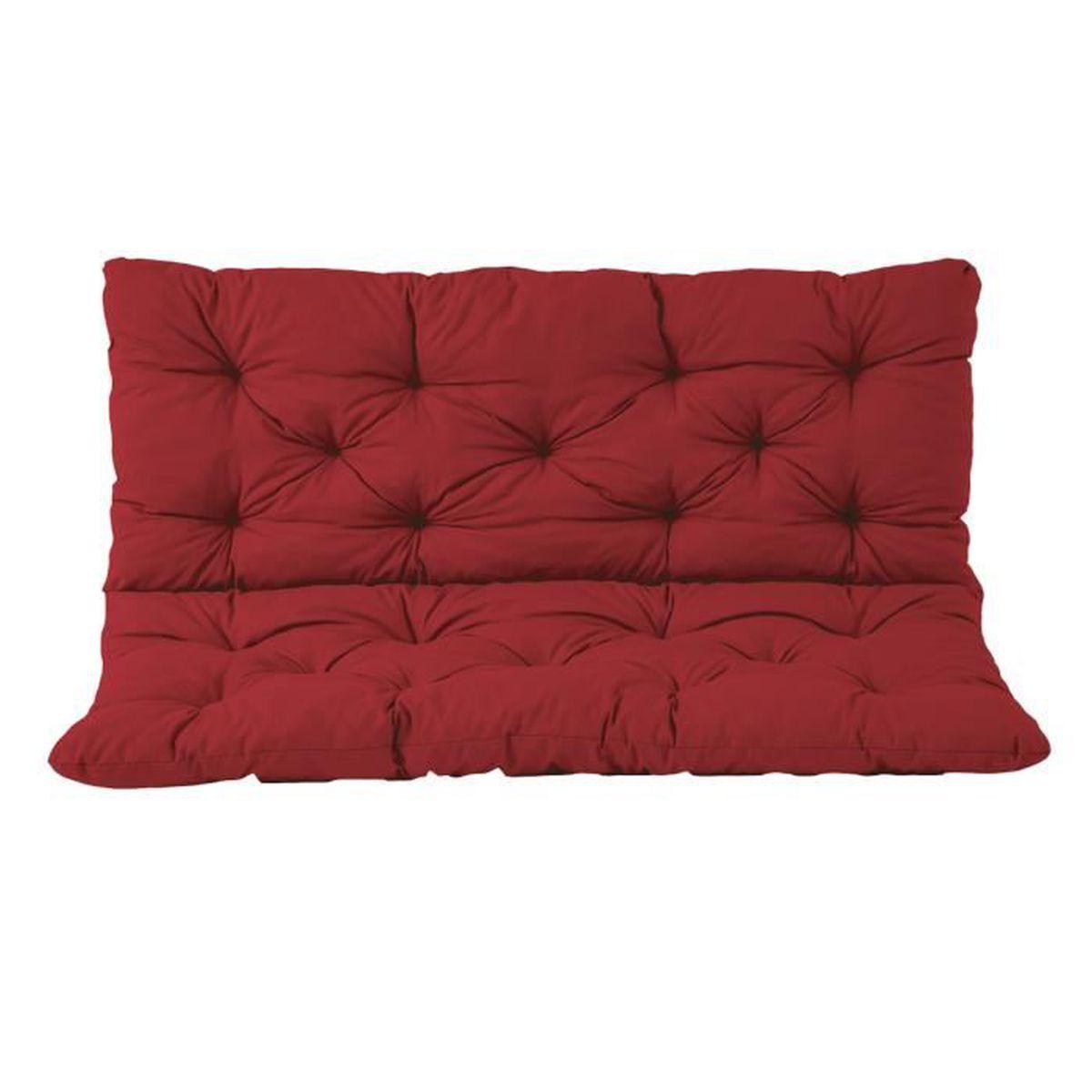 coussin haut dossier pour de banc de jardin hanko 2 si ges coton ca 150 x 98 x 8 cm ton. Black Bedroom Furniture Sets. Home Design Ideas