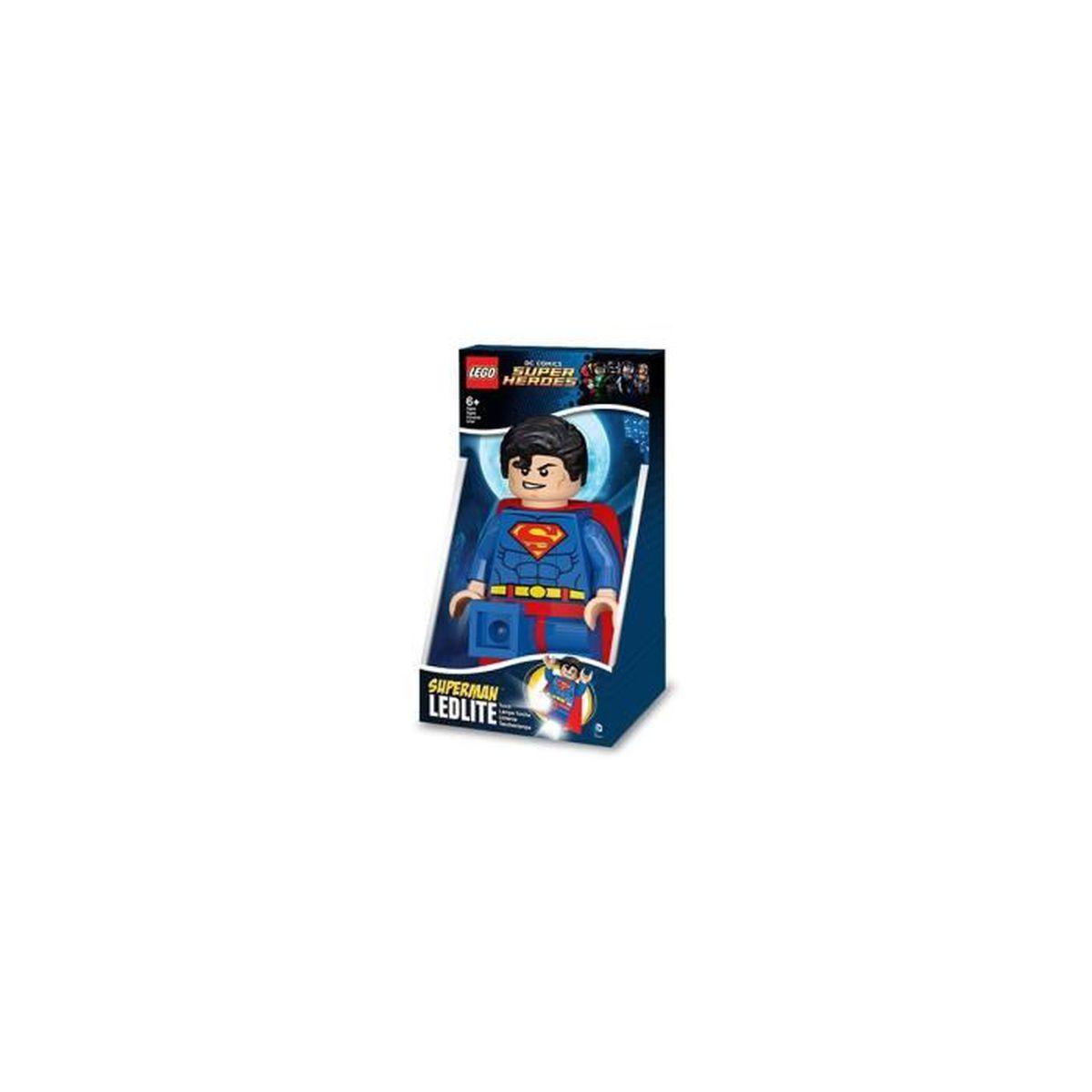 lego led - lgtob20t - super h?ros - lampe torche superman - achat