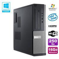 UNITÉ CENTRALE + ÉCRAN PC DELL Optiplex 390 DT G630 2.7Ghz 16Go 250Go DVD