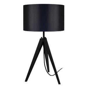 LAMPE A POSER IDUN Lampe à poser en bois noir - Ø30 x H.56 cm -