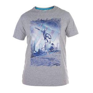FREEGUN T-shirt Polo Homme Sk8 Gris