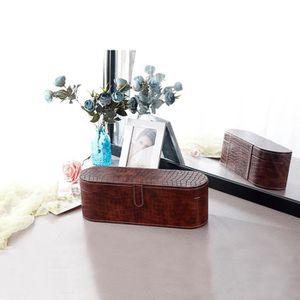 PORTE SECHE-CHEVEUX Brun-Chic Sac de rangement de boîte de sèche-cheve