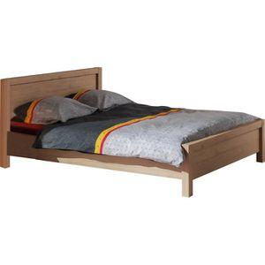 STRUCTURE DE LIT Lit 180 x 200 cm avec tête de lit intégrée couleur