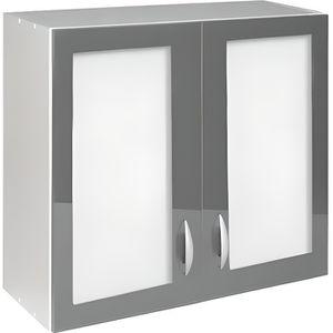 Meuble haut cuisine vitree - Achat / Vente pas cher
