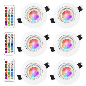 SPOTS - LIGNE DE SPOTS LED Spots Encastrables Orientable RGB Couleur Chan