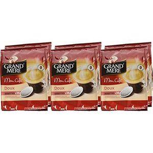 CAFÉ - CHICORÉE GRAND MERE Espresso Souples Doux 36 Dosettes 268 g