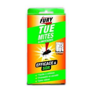 PRODUIT INSECTICIDE 'FURY Insecticide Piège Mite Alimentaire' (2 piège