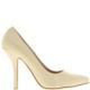 Escarpins femme grande taille beiges clair à talon de 9,5cm - Couleur:Beige Pointure:4