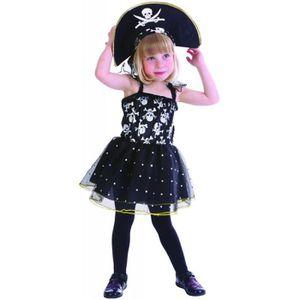 DÉGUISEMENT - PANOPLIE Déguisement pirate tête de mort fille