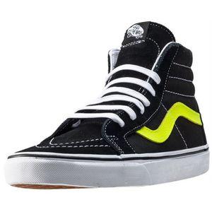 BASKET Vans Sk8-hi Reissue Hommes Baskets Black Lime - 9