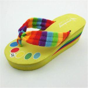 marque pantoufle meilleur femmes de chaussures d'été sandales Nouvelle mode plages femme tongues chaussures de dssx131bleu37 DMgxHY3