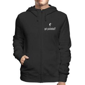 new styles 9f032 fb50b SWEATSHIRT Sweatshirt a Capuche Zip Noir OLDENG00607 pickleba