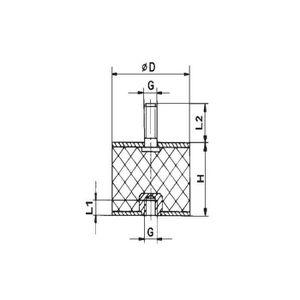 MOTORISATION Tampon de Caoutchouc Nre 15/25 Netter Vibration