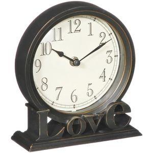 HORLOGE - PENDULE Horloge A Poser Décoration Design Rétro Inscriptio