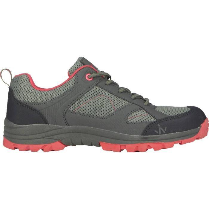 1ER PRIX Chaussures de randonnée Hike 100 Low Ld - Femme - Gris et rose
