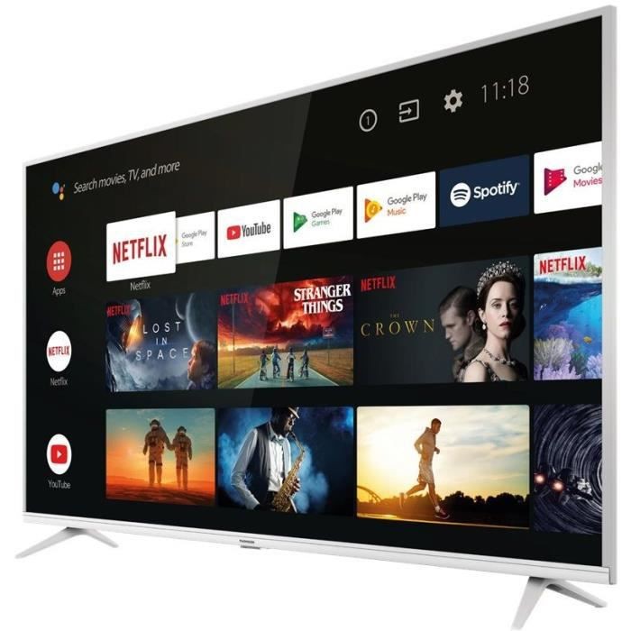 Thomson 43ue6400w tv led 4k uhd 431092cm hdr dolby auddio android tv 2xhdmi 1xusb classe énergétique a